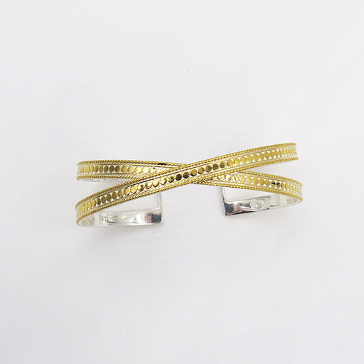 CRISS CROSS GOLD CUFF