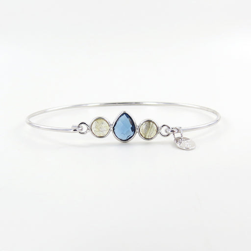 LONDON BLUE TOPAZ AND LABRADORITE CLUSTER BRACELET