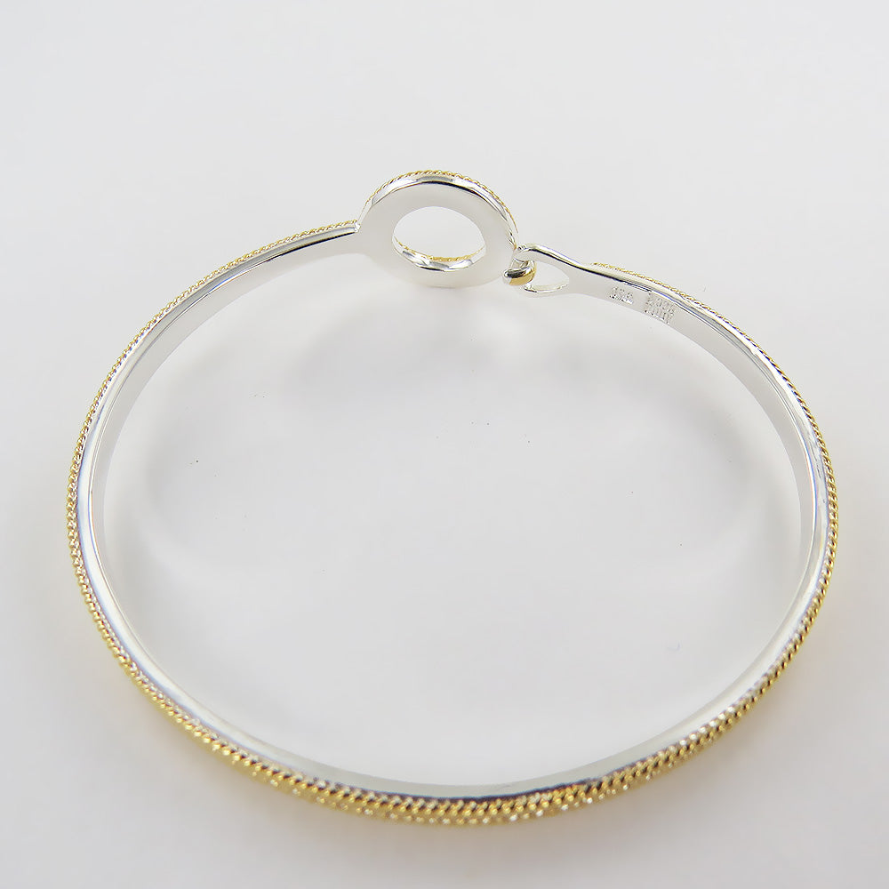 "CIRCLE OF LIFE  OPEN ""O"" CHARITY HOOP CLASP BRACELET"
