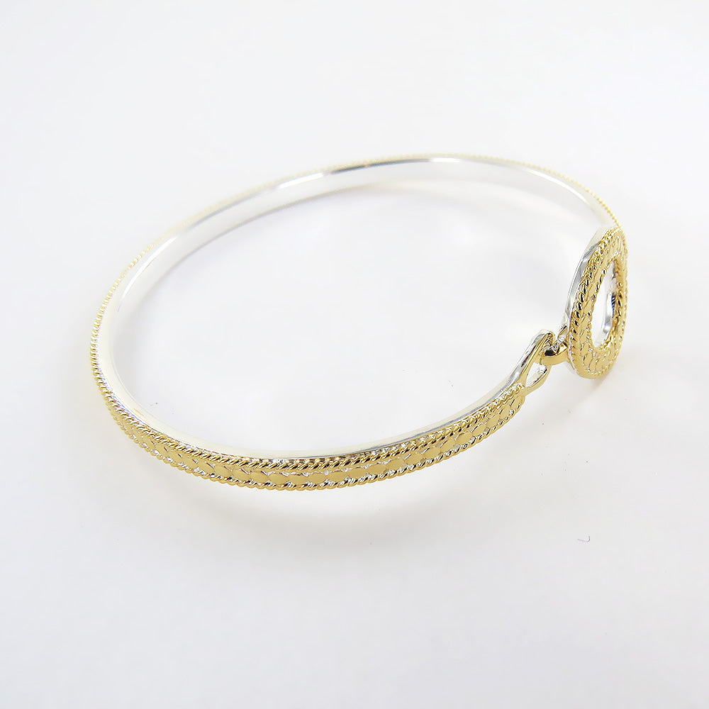 "CIRCLE OF LIFE  OPEN ""O"" CHARITY HOOP CLASP BRACEL"