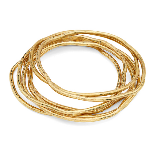 Nyundo Stacking Bracelets - Gold Plated Brass