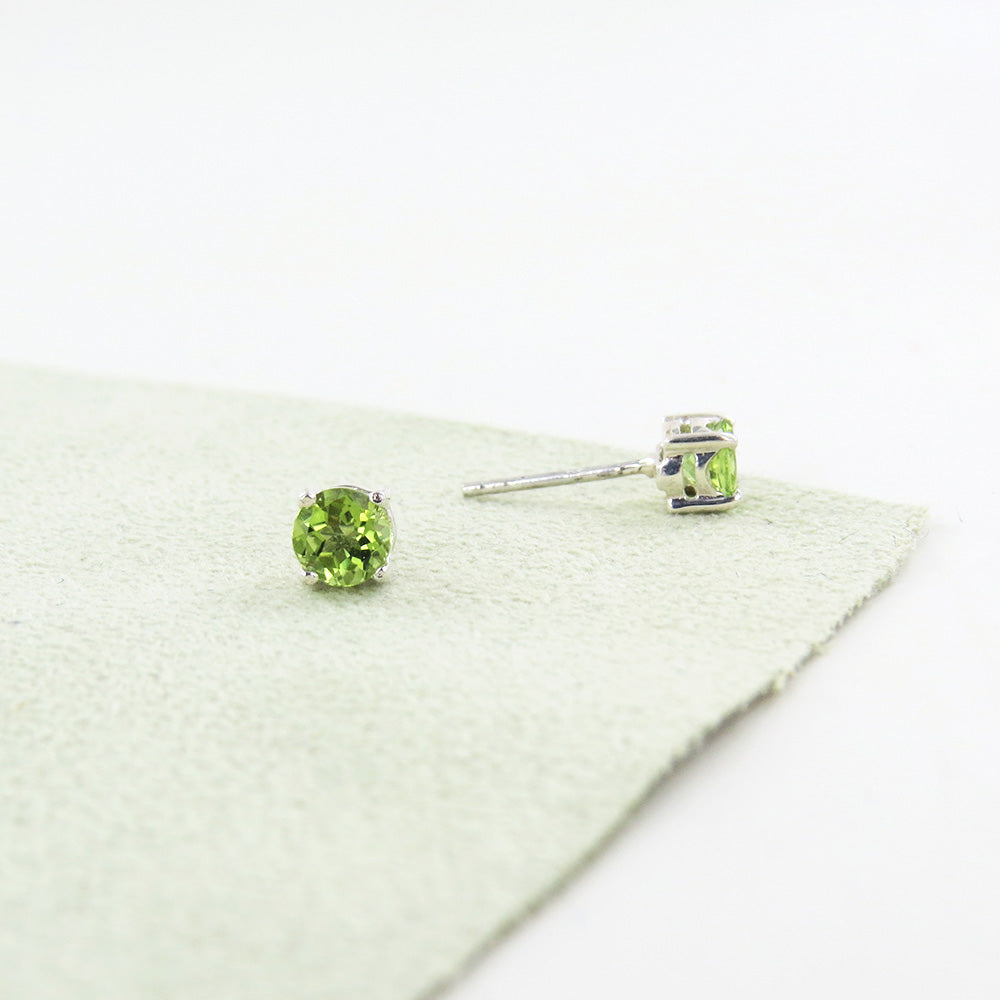 Peridot Post Earring