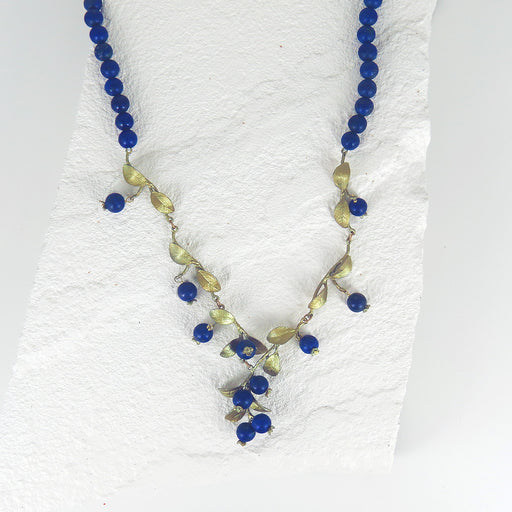 BLUEBERRY BEADED NKL