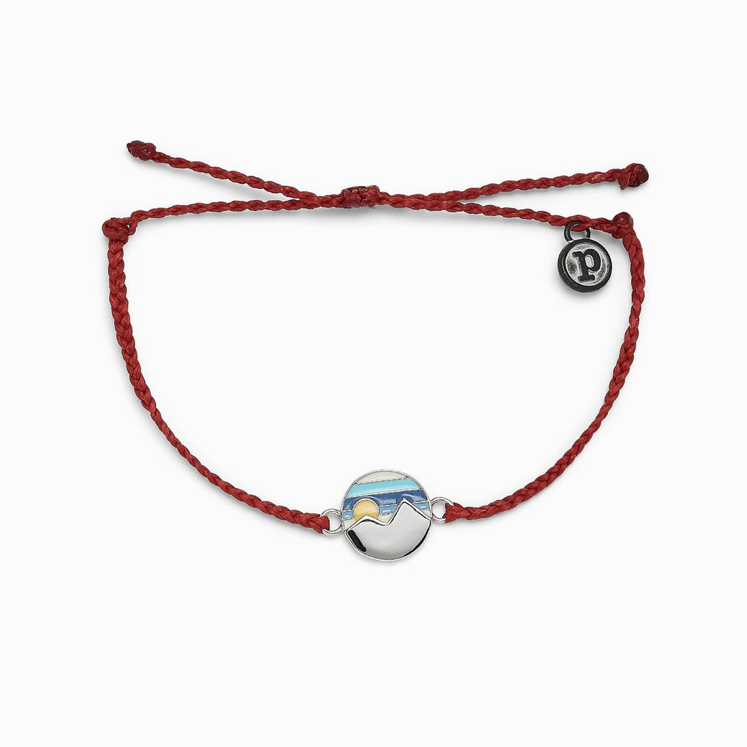 Pura Vida Twin Peaks Bracelet ~ Dark Red