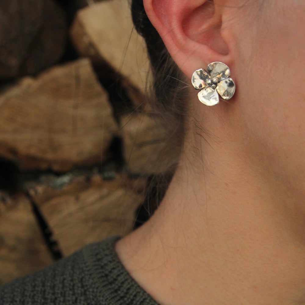 Dogwood Post Earring