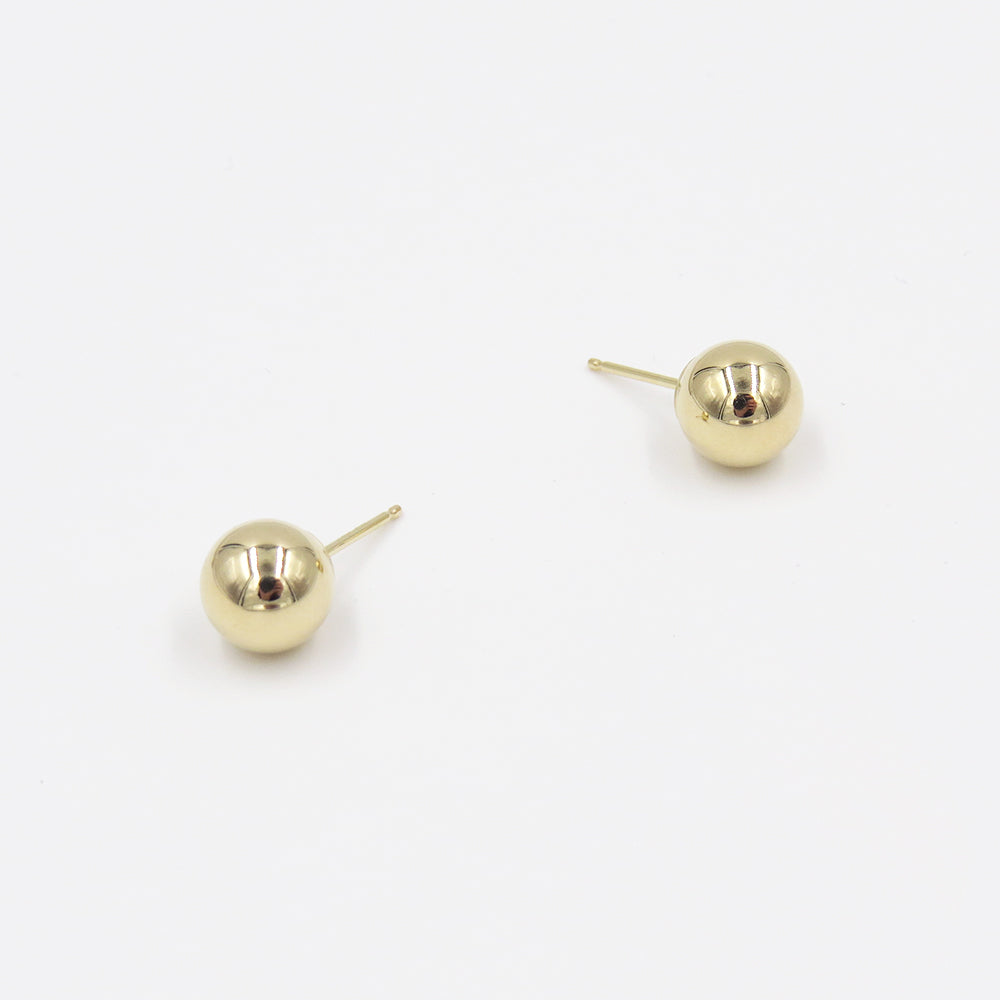 14K LARGE BALL POST EARRINGS