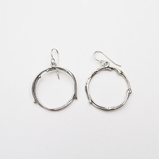Sterling Silver Twig Hoops