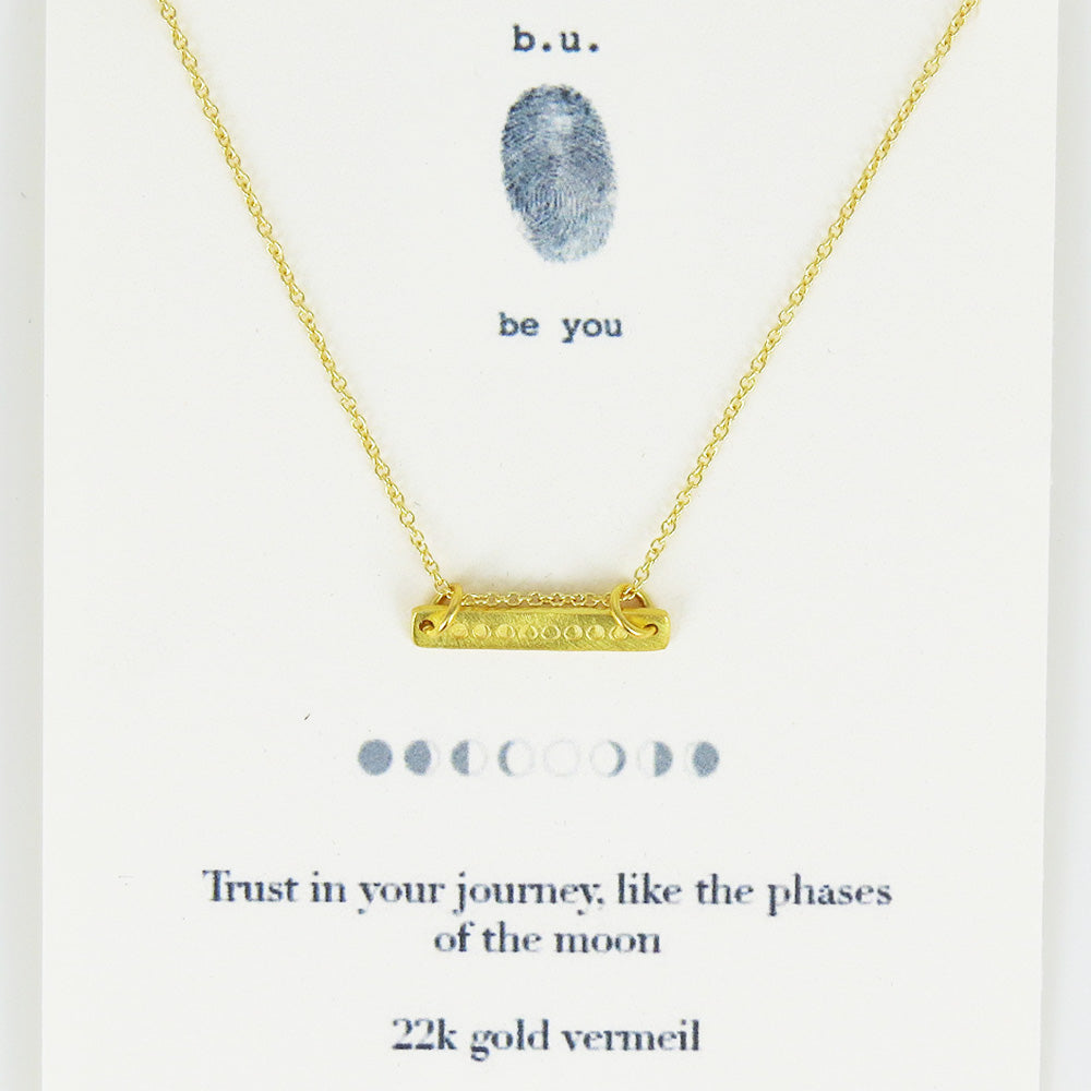 TRUST IN YOUR JOURNEY VERMEIL NECKLACE