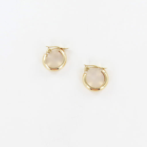 14K SIMPLE HOOP CLIP EARRING