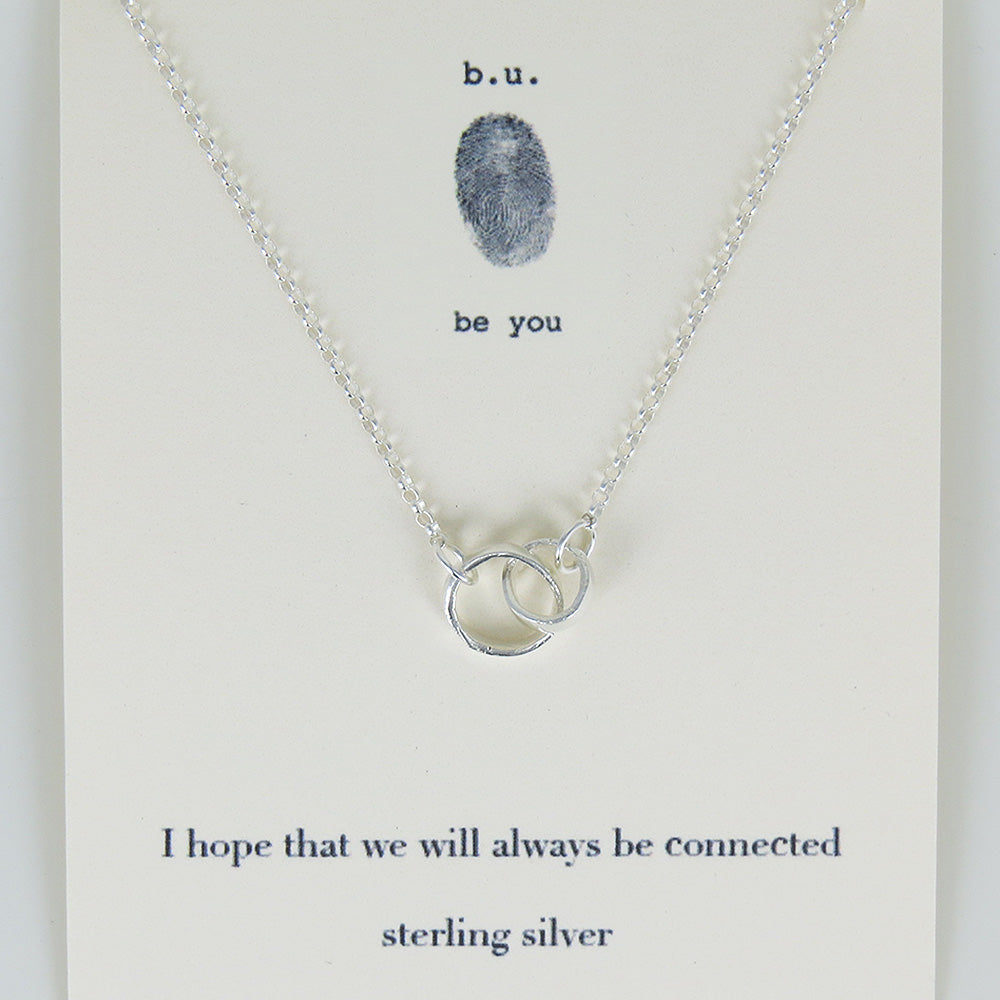 meaningful Sterling Silver charm necklace, I hope that we will always be connected.