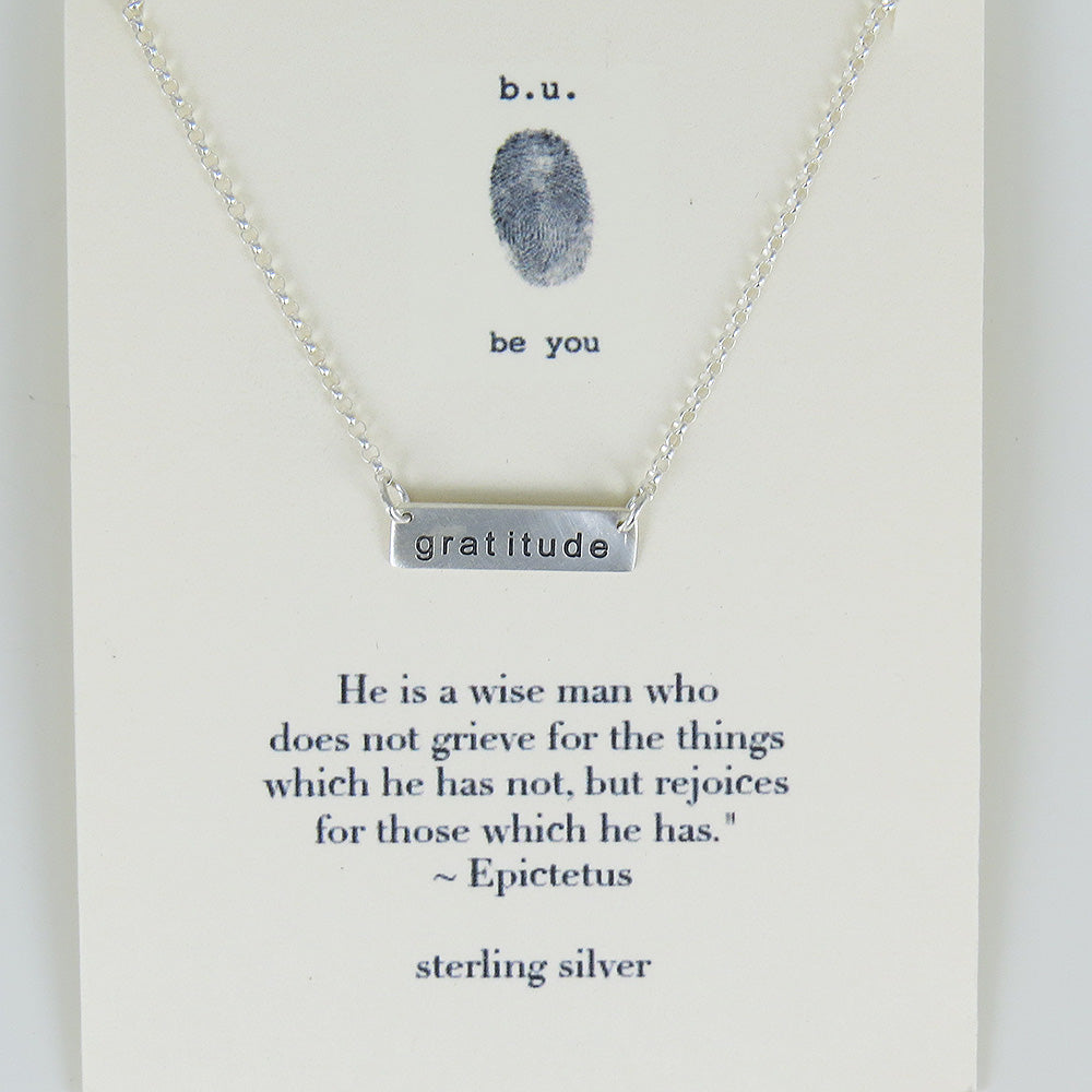 GRATITUDE BAR NECKLACE