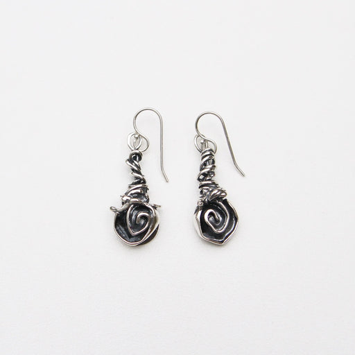 Sterling Silver Rose Vine Earrings