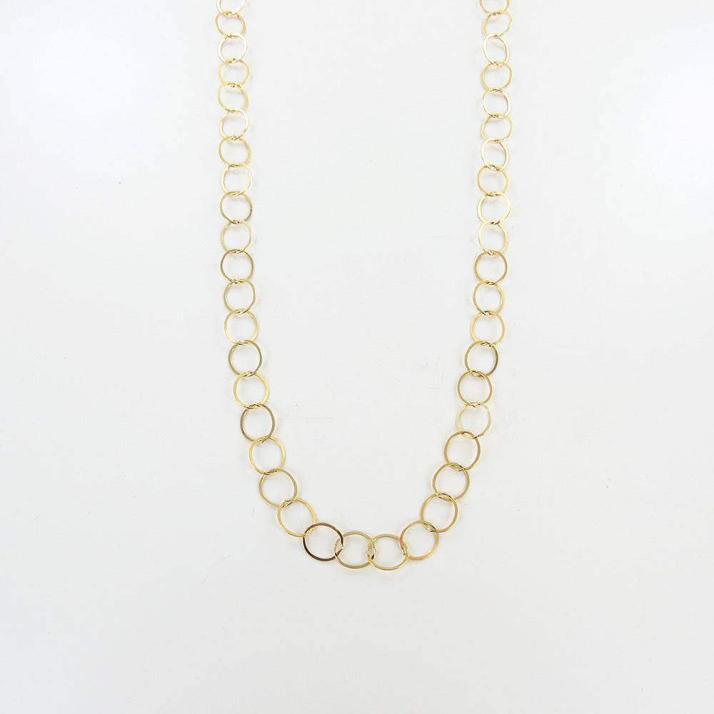 GOLD LOOP LONG NECKLACE