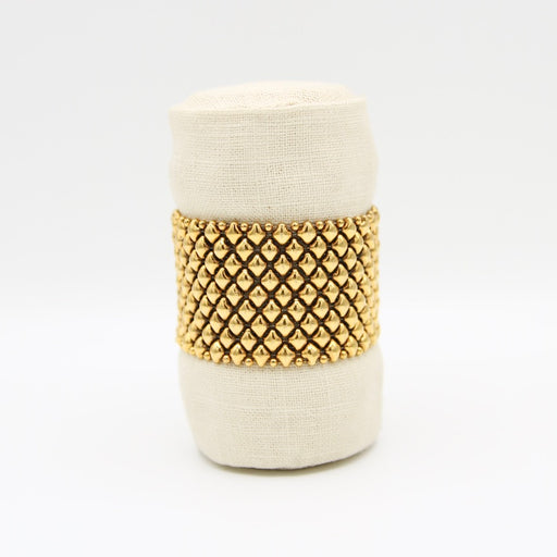 Antique Gold Large-Gauge Mesh Bracelet