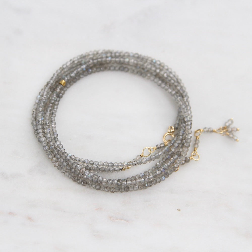 Labradorite Wrap Bracelet & Necklace