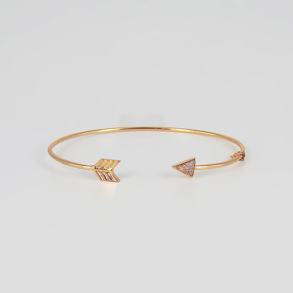 SMALL OPEN ARROW CUFF BRACELET