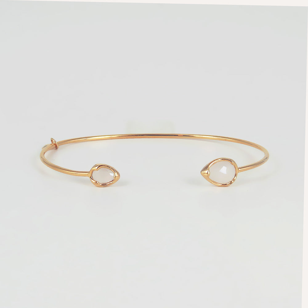 TEAR SHAPE MOON CUFF BRACELET