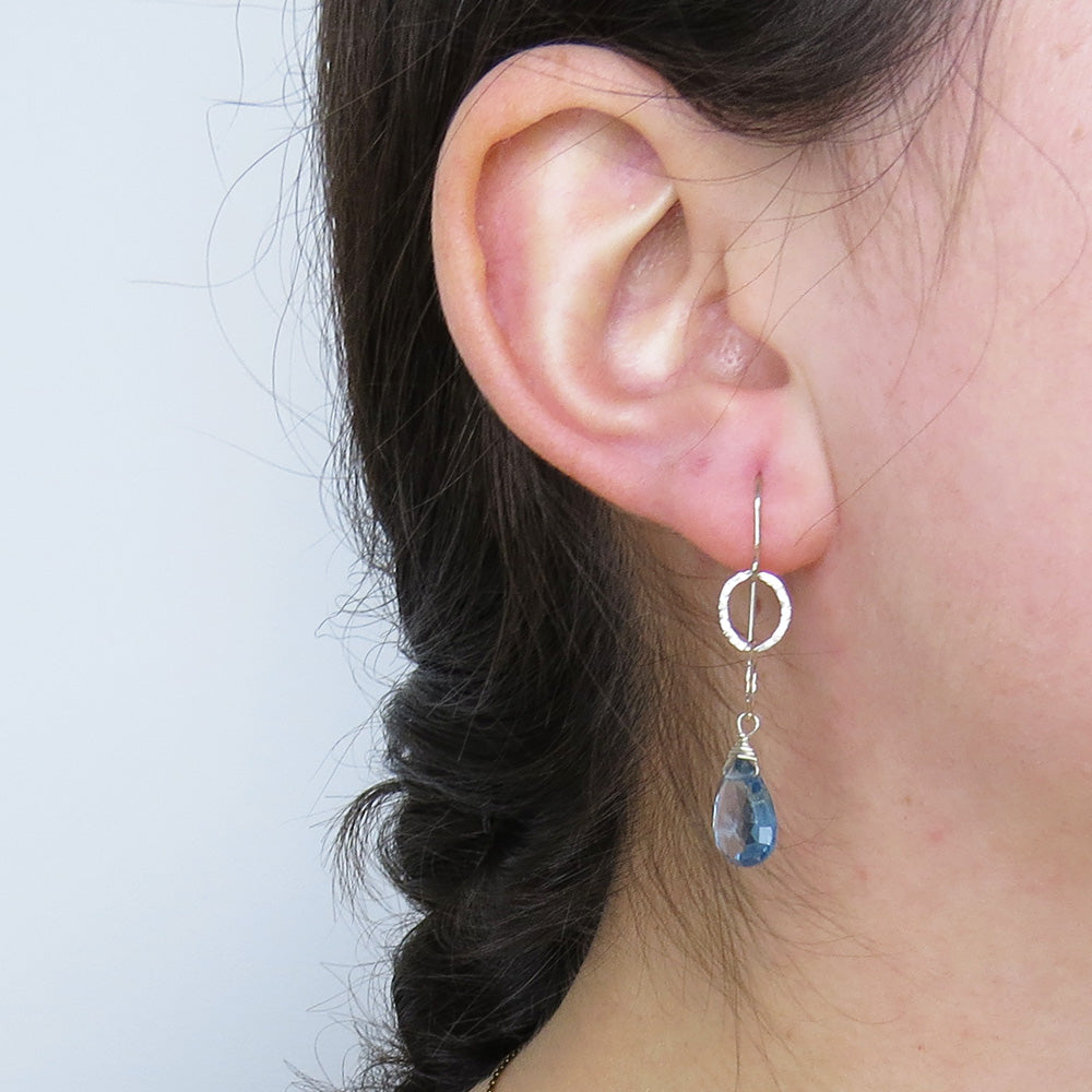 DOUBLE LOOP AND LONDON BLUE TOPAZ DROP