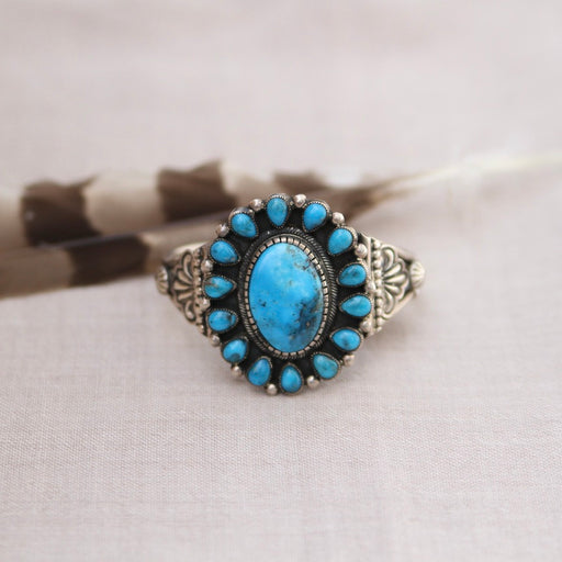 MORENCI TURQUOISE CENTER CLUSTER BRACELET BY LEON MARTINEZ