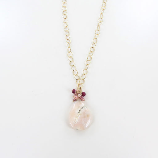 MIX PINK CLUSTER NECKLACE