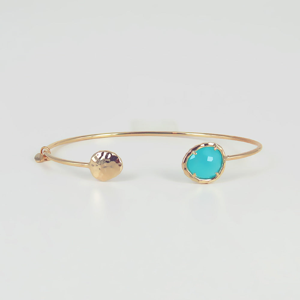 DISK AND MINT SPLIT CUFF BRACELET
