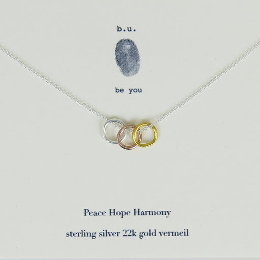 PEACE, HOPE, HARMONY NECKLACE