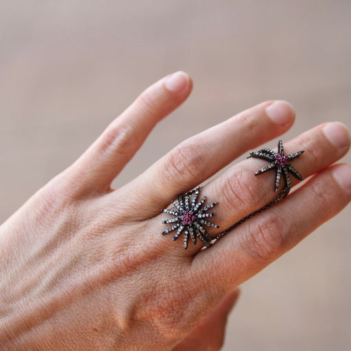 Double Starburst Chain Linked Ring