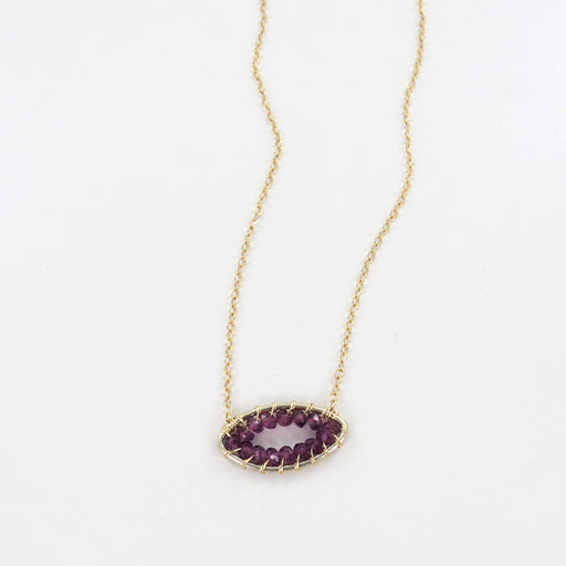 GARNET MARQUIS NECKLACE