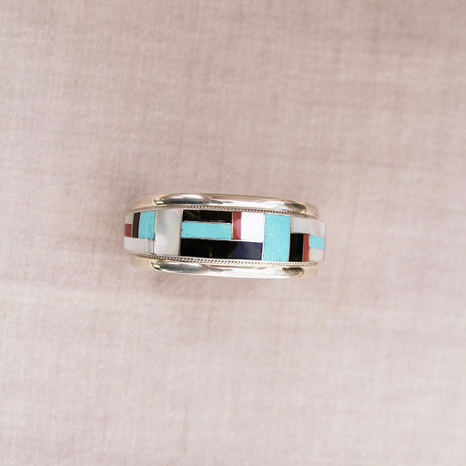 WIDE MOSIAC INLAY CUFF