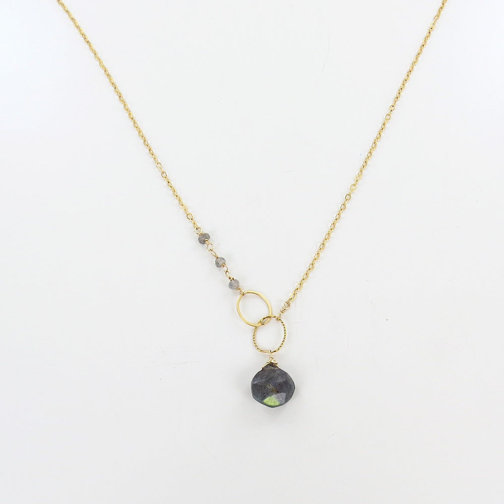 ASYMMETRICAL LABRADORITE NECKLACE