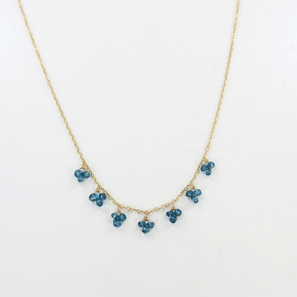 SCATTERED LONDON BLUE TOPAZ NECKLACE