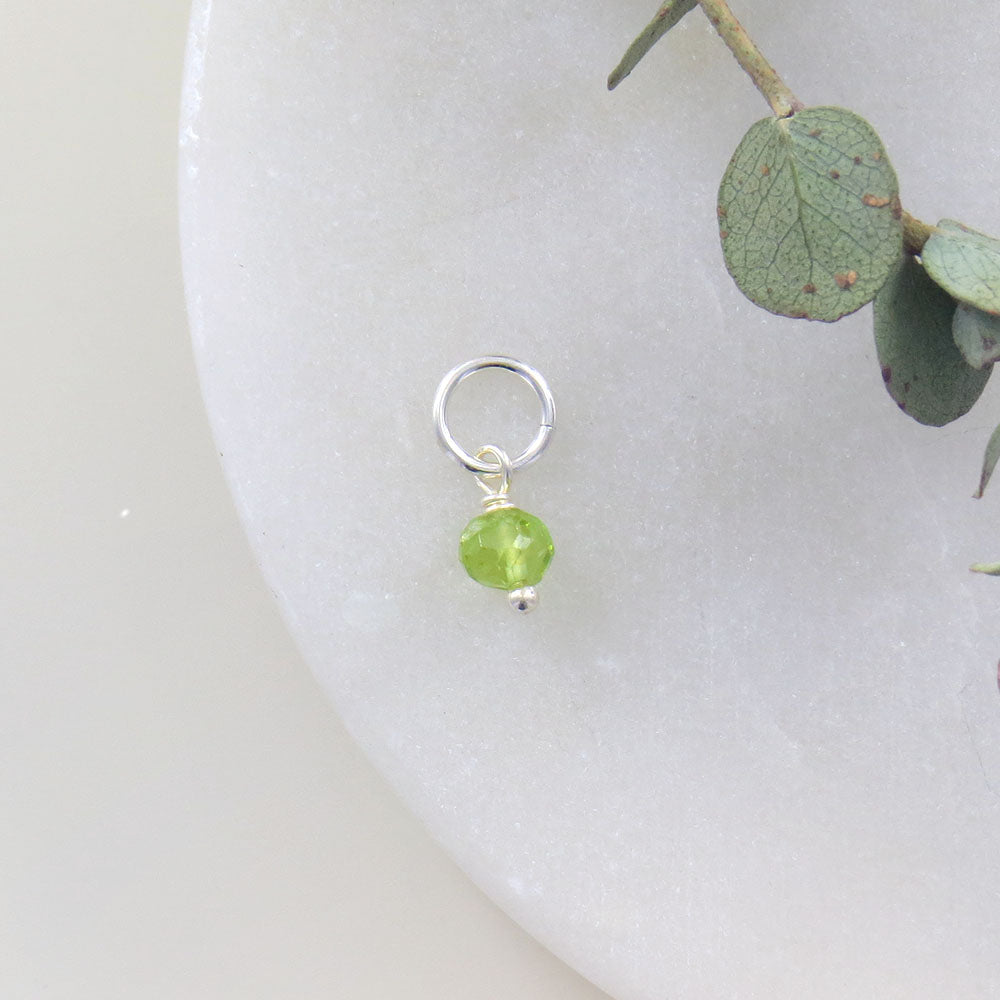 TINY AUGUST BIRTHSTONE - PERIDOT