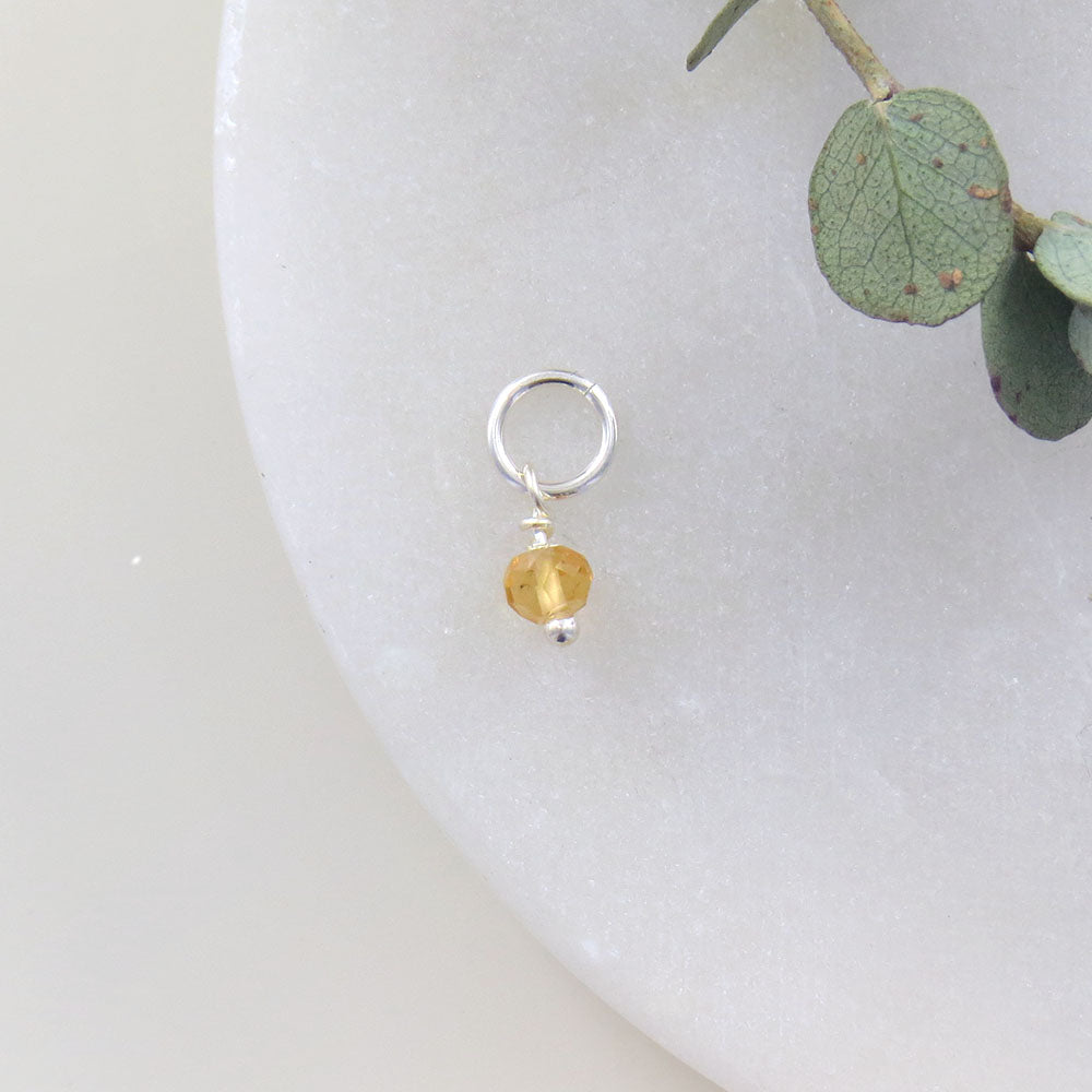 TINY NOVEMBER BIRTHSTONE - CITRINE