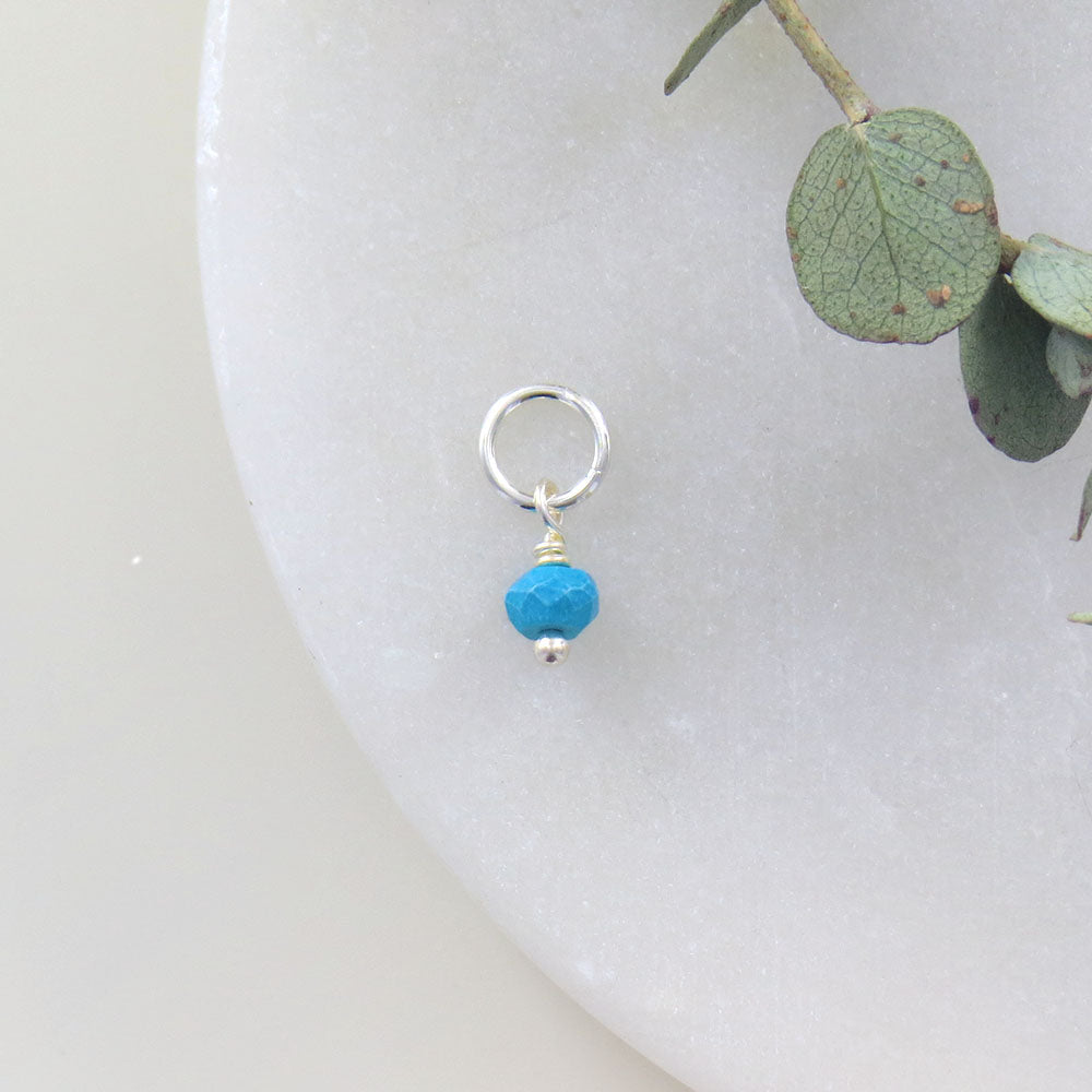 TINY DECEMBER BIRTHSTONE - TURQUOISE