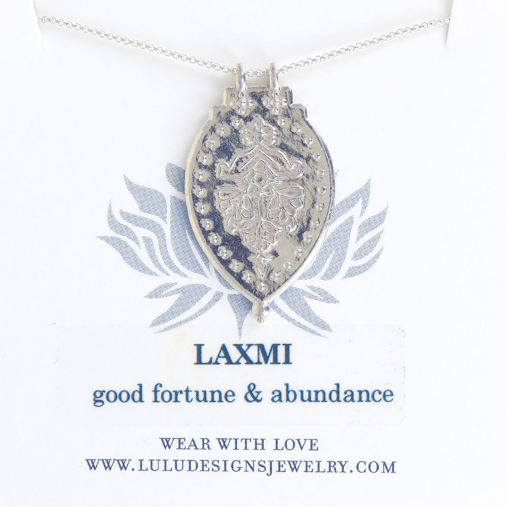 LAXMI PENDANT IN STERLING SILVER
