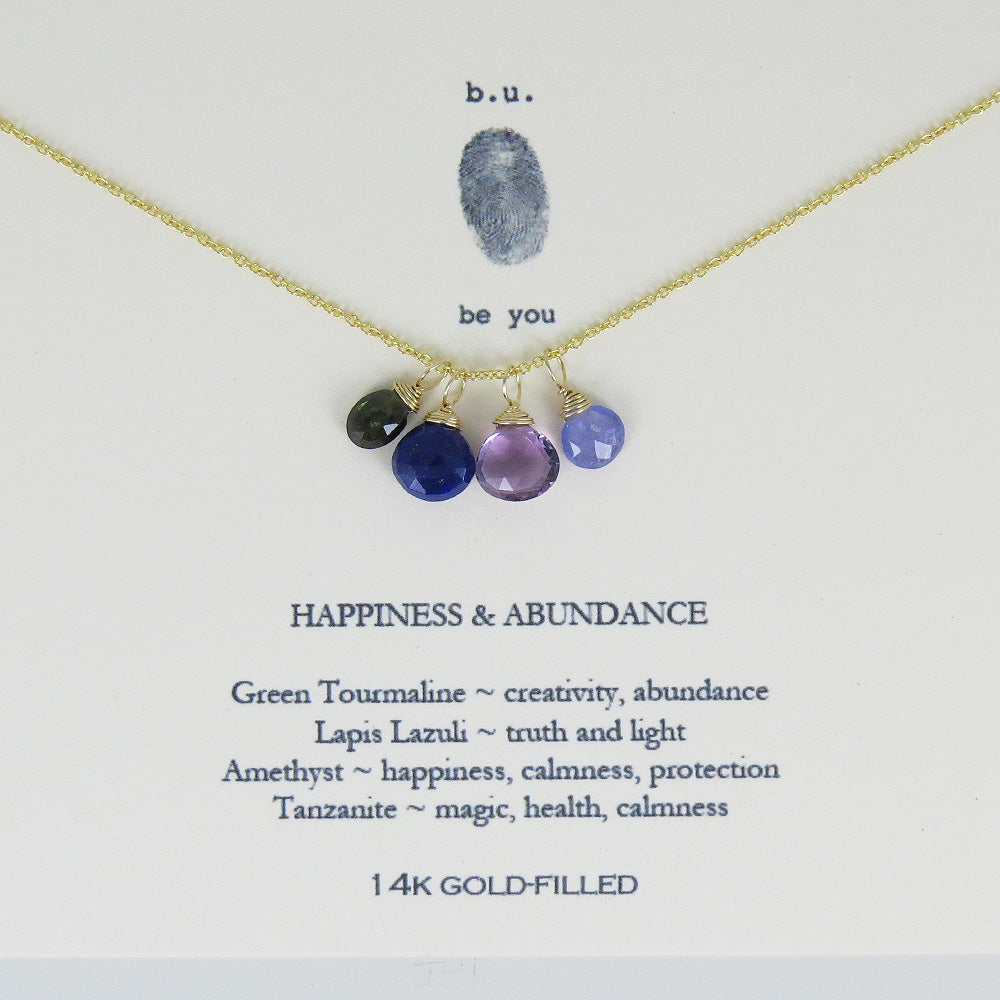 HAPPINESS AND ABUNDANCE GOLD NECKLACE