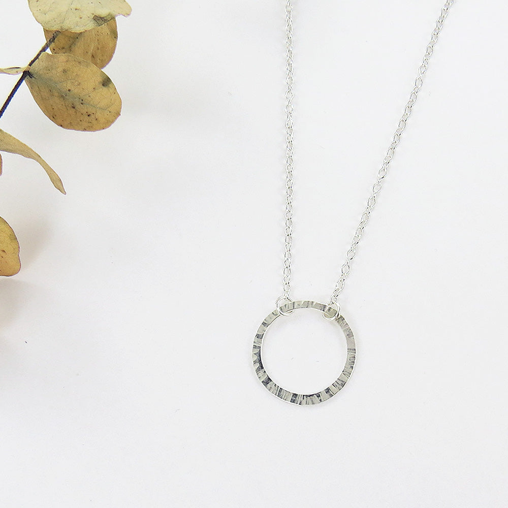 SIMPLE SILVER RING NECKLACE