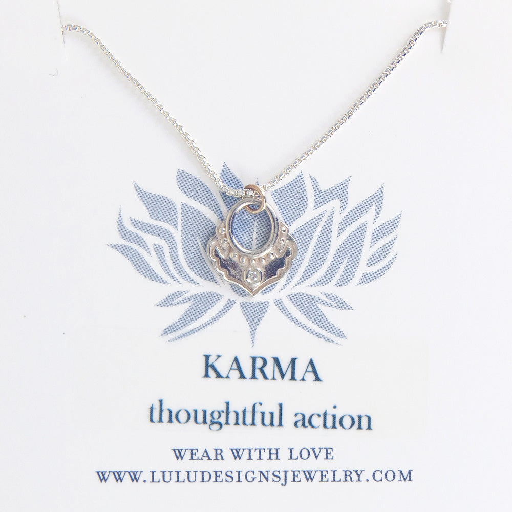 KARMA PENDANT IN STERLING SILVER