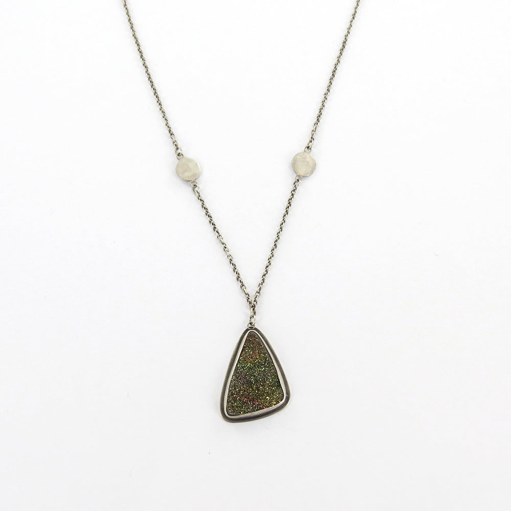 Pyrite Druzy Necklace
