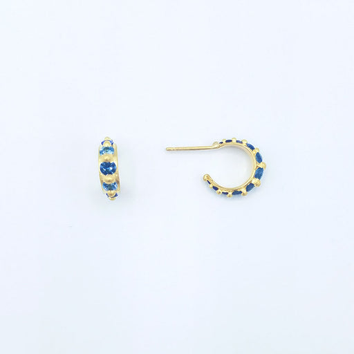 POLLY WALES BLUE SAPPHIRE CUFF EARRINGS
