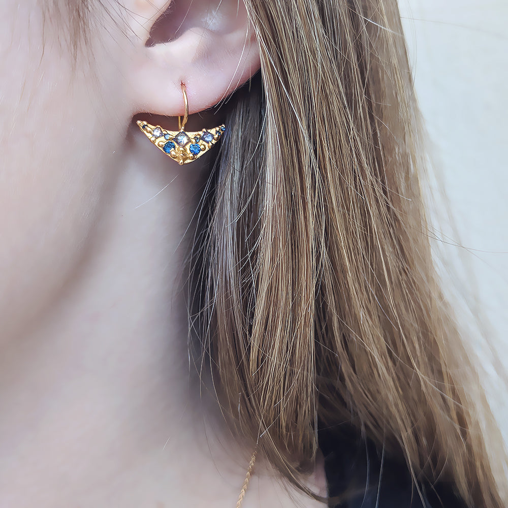 Polly Wales Pinched Lobe Earrings