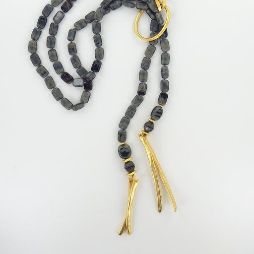 UNIDOS BLACK LONG NECKLACE
