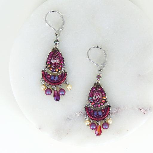 RUBY TUESDAY FRENCH HOOK EARRING