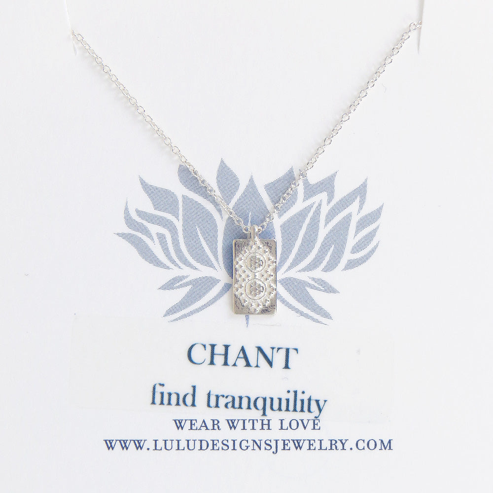 SMALL CHANT NECKLACE IN STERLING SILVER