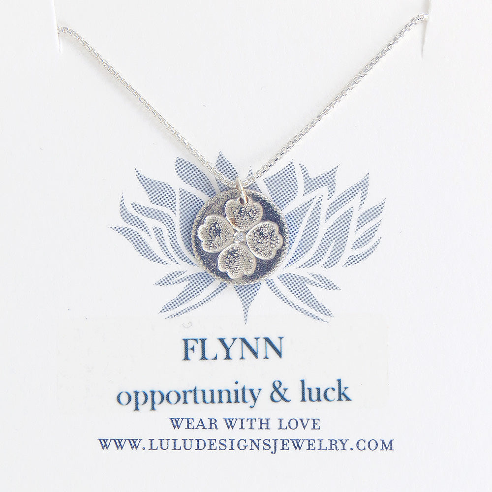 FLYNN MEDALION WITH DIAMOND IN STERLING SILVER
