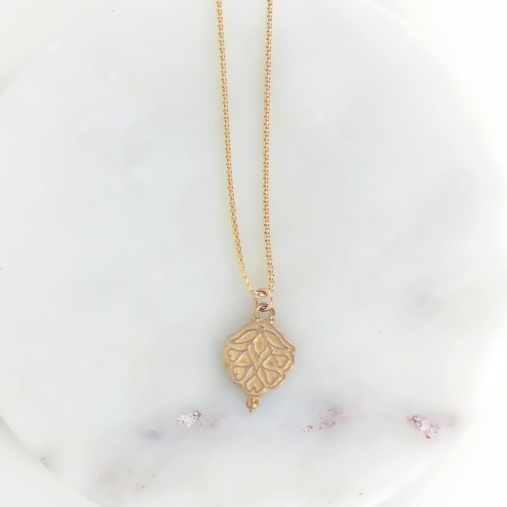 INDIA PENDANT IN GOLD FILL