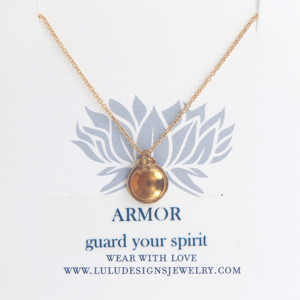 ARMOR NECKLACE IN GOLD FILLED
