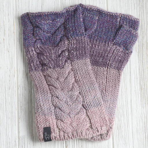 Berry Fade Fingerless Gloves