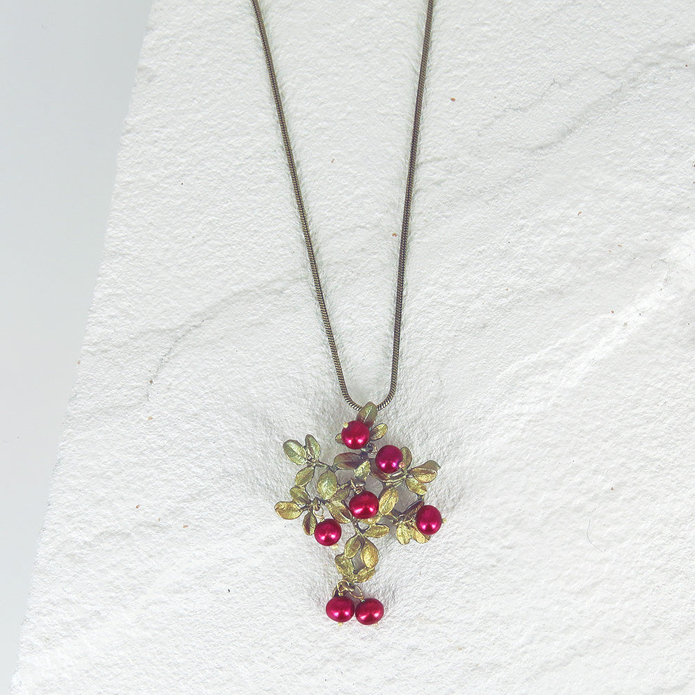 CRANBERRY PENDANT ON CHAIN