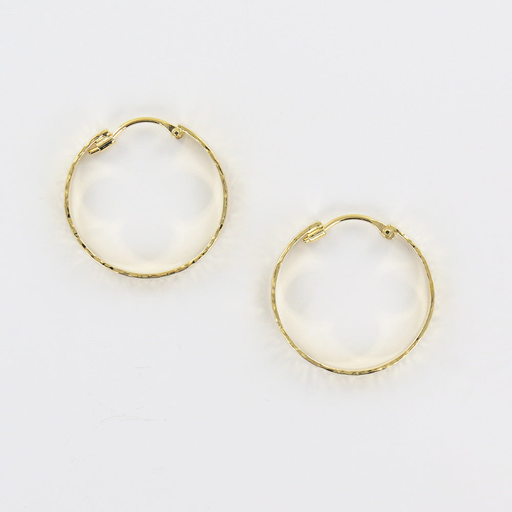 HAMMERED GOLD VERMEIL 25mm HOOP